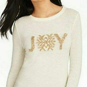 "NWT Talbots ""Joy"" Holiday Christmas Sweater"
